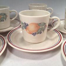 Corelle ABUNDANCE (set of 6) Cup & Saucer Sets ~ FRUIT