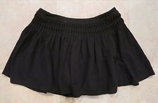 FREE PEOPLE BLACK PLEATED SHORT SKATER SKIRT SIZE XS