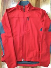 Ibex Vin Hybrid Men's Red Gray Long Sleeve Full Zip Jacket Sz M. Climawool 157