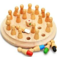 Wooden Memory Match Stick Chess Game Children Early TOy Educational 3D J5H9
