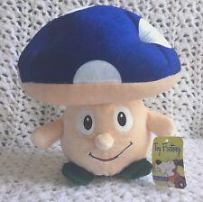 "TOY FACTORY SHROOM Mushroom Plush Toy Character 10"" x 10"" BLUE Cap NEW"