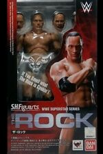 Bandai S.H. Figuarts Wwe Superstar Series The Rock Figure Brand New In Stock