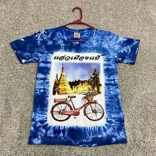 Paint My Love Shirt Adult Large Mens Blue Bike Ancient Times Tee Mens