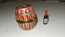 AUTHENTIC LIMOGES BOX vin wine barrel 5 bottles  limited 10/500   france