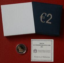 Malta 2 Euro Gedenkmünze 2011 PP Verfassung Wahl der Abgeordneten Original Etui