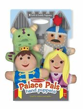Melissa & Doug Palace Pals Hand Puppets (Set of 4) Prince, Princess, Knight