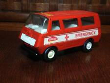 Vintage Tonka emergency tin toy van , retro , kitsch