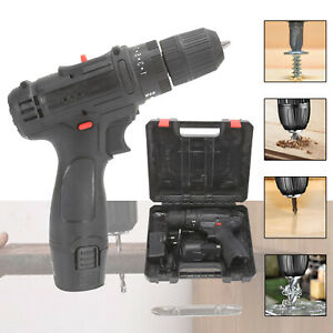 12V LITHIUM-ION BATTERY CORDLESS COMBI POWER DRILL DRIVER ELECTRIC SCREWDRIVER