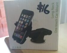 Car Cell Phone Holder, One Touch Mounting With Extended Neck - UNUSED & MINT