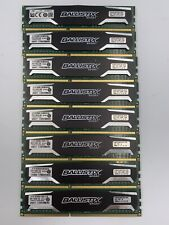 LOT of 8 x 8GB Crucial Ballistix Sport BLS8G3D1609DS1S00 DDR3-1600 MEMORY 64GB