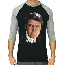 LEE MAJORS shirt 3/4 Sleeve Raglan T-shirt The Six Million Dollar Man 1974 serie
