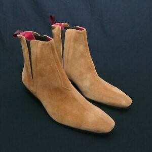 JEFFERY-WEST 'MUSE' Tan Suede CARLITO Seam front Chelsea boot - UK 8