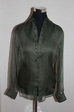 $698 NWT Ralph Lauren Black Label Green 2 piece Viscose Long Sleeve Shirt size 2
