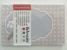 Mini carnet Serenity Gris 11x7cm 30 feuilles Artemio DIY scrapbooking papeterie