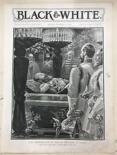 Czar Alexander Lying In State In The Chapel: 1894 Black & White Magazine Print