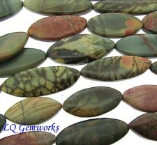 "16"" RAINBOW PICASSO JASPER 30-40mm Eliptical Oval Beads"