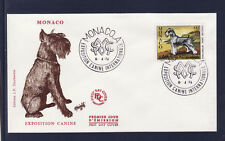 MONACO   enveloppe 1er jour  expo  canine  chien  Schnauzer    1974