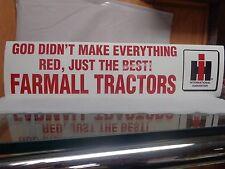 IH Farmall Bumper Stickers  { TWO }