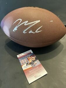 Max Crosby Signed NFL Wilson FULL SIZE Autographed Football Jsa COA/IN PRESENCE~