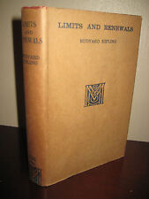 1st Edition LIMITS AND RENEWALS Rudyard Kipling FIRST PRINTING Nobel Prize RRE