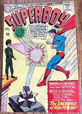 "Superboy Comic Book #125 ""Kid Psycho"" Silver Age - Grade: Very Good 4.5+"