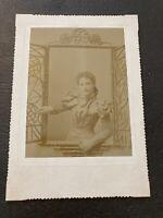 Vintage Cabinet Photo Card, Young Lady's Prortrait Photograph CC9