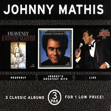 Heavenly/Greatest Hits/Live [Box] by Johnny Mathis (CD, Oct-1995, 3 Discs, Sony