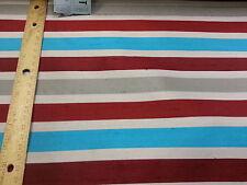 """Per Yard x 26.5"""" Vintage Kalkstein Silk Red/White/Topaz/Gray Striped Tie Fabric"""
