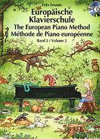 Klavier Noten Schule : Europäische Klavierschule Band 2 mit CD (Fritz EMONTS)