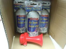 LOT OF 3 Boat Marine Safety Sports AIR HORN REFILL CAN  8oz Refill Only w/1 horn