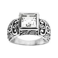 Silpada 'Calla' Natural White Quartz Filigree Ring in Sterling Silver