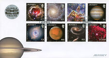 Jersey 2015 FDC Hubble Space Telescope 25 Years 8v Cover Planets Stars Stamps