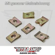 10x Metall Halterung Klammern Klemme Mutter Universal | 16,6 x 11,2
