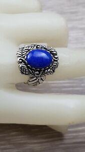 Sterling Silver 925 Carolyn Pollack Relios Lapis Lazuli Ornate SOUTHWESTERN Ring
