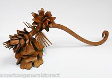 "rustic Pine Cone Candle Snuffer metal 8.5"" long lodge style pinecone"