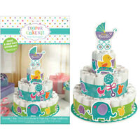 BABY SHOWER Tiny Bundle DIAPER CAKE KIT (8pc) ~ Party Supplies Gender Neutral