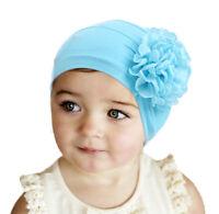 Children Kids Girls Hijab Hats Islamic India Beanies Turban Stretch Ruffle Caps