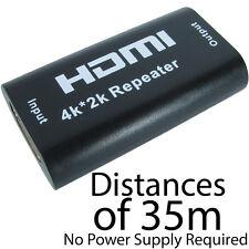 4K HDMI Repetidor de señal Booster sobre 35m-Ultra HD Extensor De Cable Acoplador Hembra