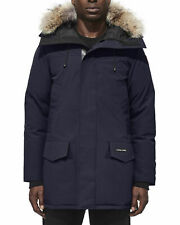 Canada Goose Langford Navy Marine Blue Coyote Fur Trim Down Jacket Size Small