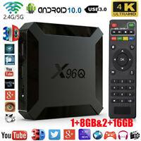 X96Q Android 10 4K Quad Core Smart TV BOX Allwinner H313 4K Smart TV Media 16GB