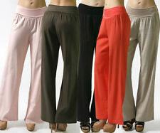 Rayon Regular Size L Stretch Pants for Women