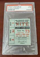 1963 September 20 Mets Giants Candlestick PSA Ticket Stub Marichal, McCovey HR
