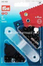 OCCHIELLI 4mm vele PRYM NERO occhiello metallici ferma buco inossidabile 542402