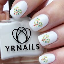 Nail WRAPS Nail Art Water Transfers Decals - Green Heart of Hearts - S309
