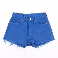 Vintage LEVI'S 501 XX Blue Regular Casual Denim Shorts Womens S W27
