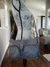 FOSSIL Long Live Vintage Grey Leather cross body ZB4677
