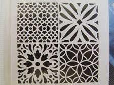 Pochoir Home déco 4 motifs Carreau mix2 ciment tous supports 30x30cm Artemio DIY