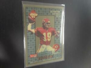 Joe Montana 1993 Collector's Edge F/X #4 Kansas City Chiefs M23
