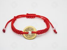Red String Chinese Feng Shui Bracelet Lucky Coin Bali Talisman Wealth Gift UK