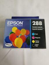 Epson DuraBrite Ultra 288 Cyan Magenta Yellow Black Ink Cartridges Exp Jan 2023